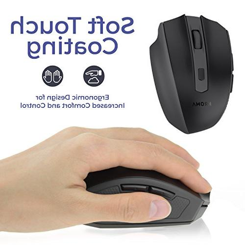 Kroma Wireless Portable Mice 3 Adjustable 6 Buttons PC, -