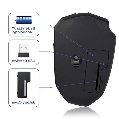 Kroma CompactErgo 2.4GHz Wireless Portable Mobile Mouse Mice USB Receiver, 3 Adjustable 6 PC, Computer, Macbook - Black