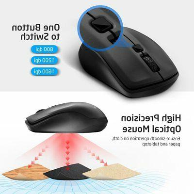 Ergonomic Wireless Mouse Mice For PC Mac OS
