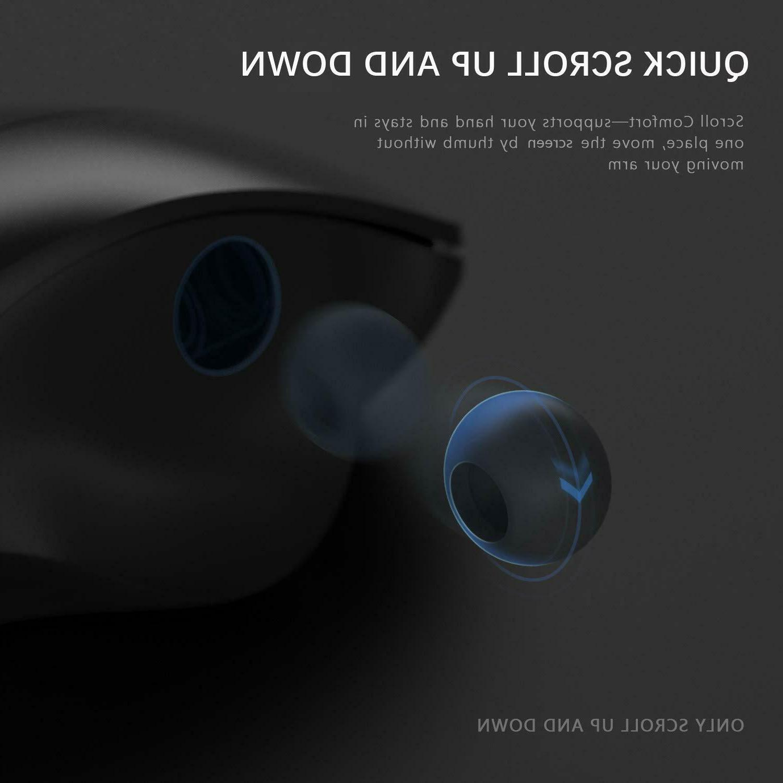 Ergonomic Wireless Mouse Laptop, Jelly Comb 2.4GHz Cordless