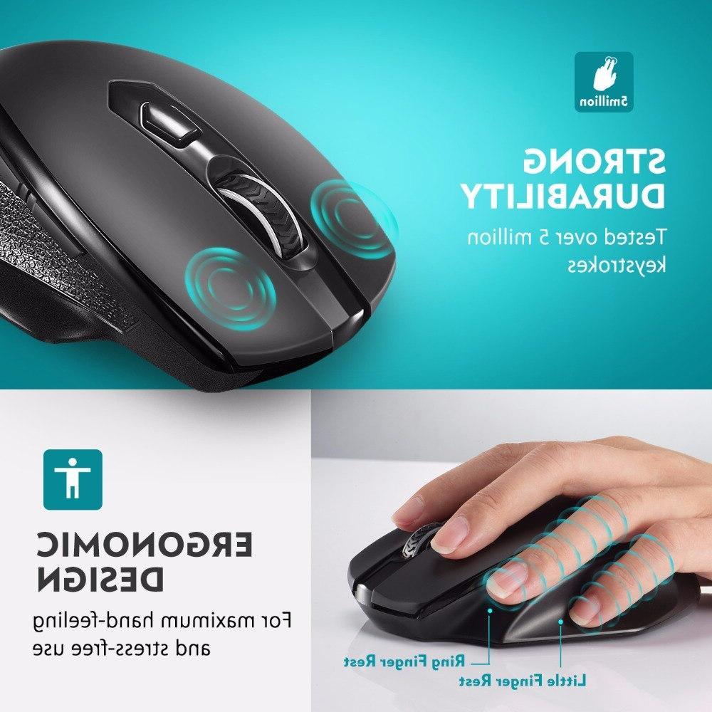 <font><b>VicTsing</b></font> <font><b>Wireless</b></font> <font><b>Mouse</b></font> Upgraded Size Ergonomic Design For Laptop/Notebook/PC/Computer
