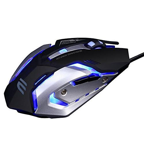 74c4dcea19d LINGYI Gaming mouse, 6 Programmable Buttons, 4 Adjustable