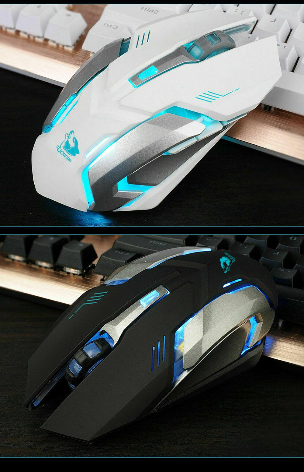 LED Rechargeable Wireless USB Optical Gaming X7 Mouse