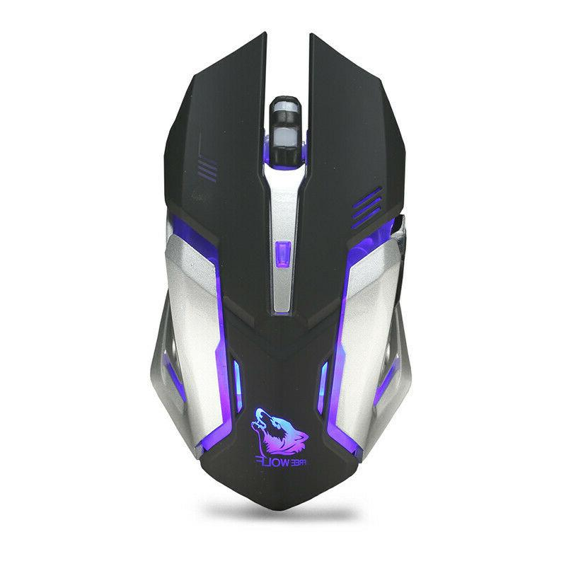 Gaming Mouse Rechargeable Wireless USB Optical