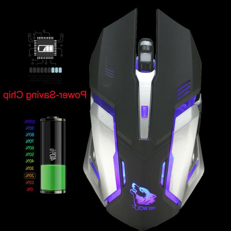 Gaming Rechargeable Wireless Silent LED USB Ergonomic