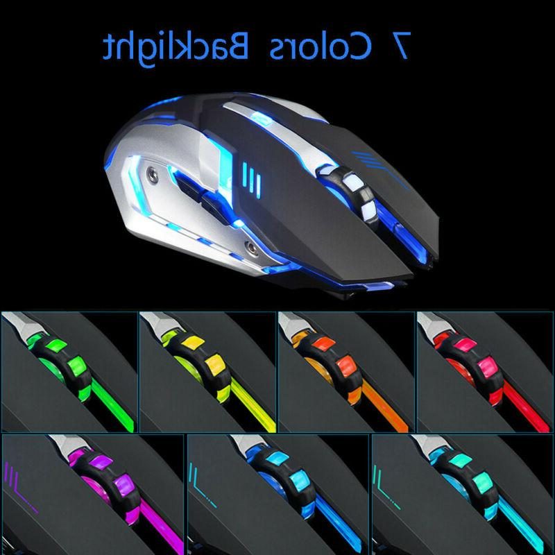 Gaming Mouse Rechargeable X7 Wireless Silent LED USB Optical