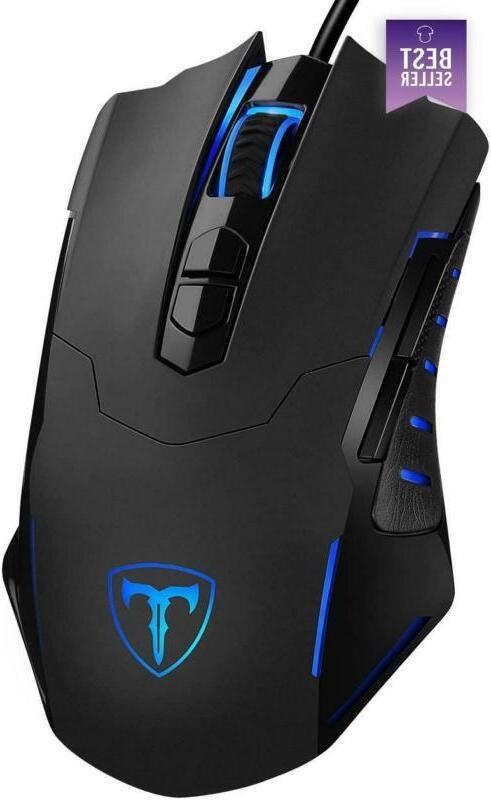 PICTEK Gaming Mouse Wired    Ergonomic