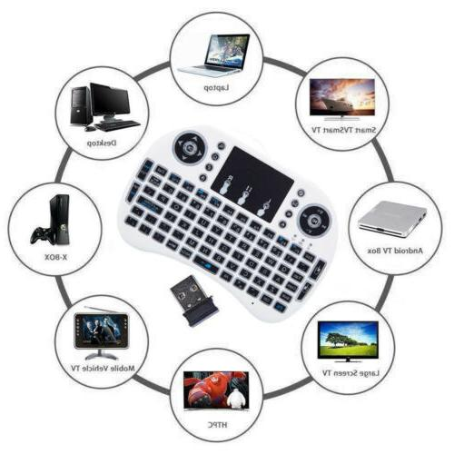 i8 Mini Keyboard Mouse Touchpad w/ Backlight For Smart Pad