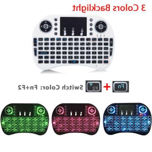 i8 wireless mini keyboard mouse touchpad w