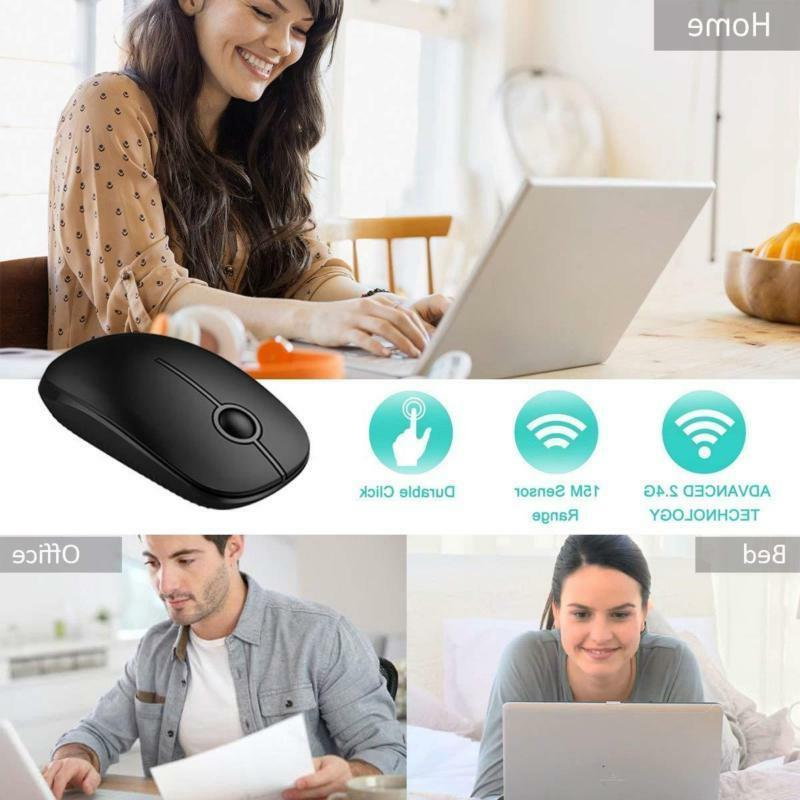 Jelly 2.4G Wireless Mouse With Nano Receiver, Less Noise, Mob