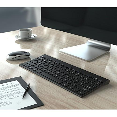 Keyboard 2.4 G Rechargeable Mouse Combo for Desktop Computer