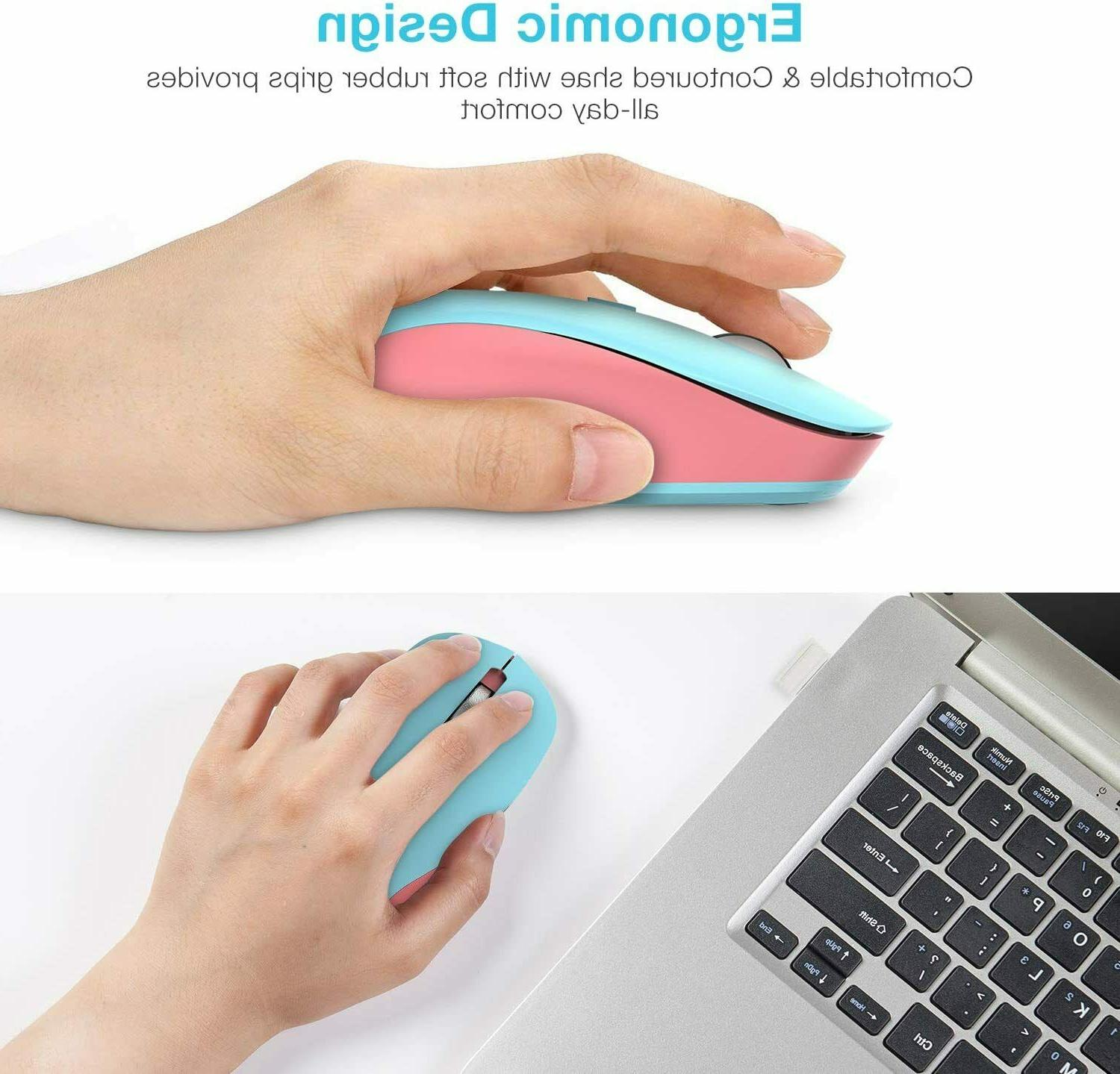 Kids Computer Wireless Mouse 2.4G Mouse Nano Receiver