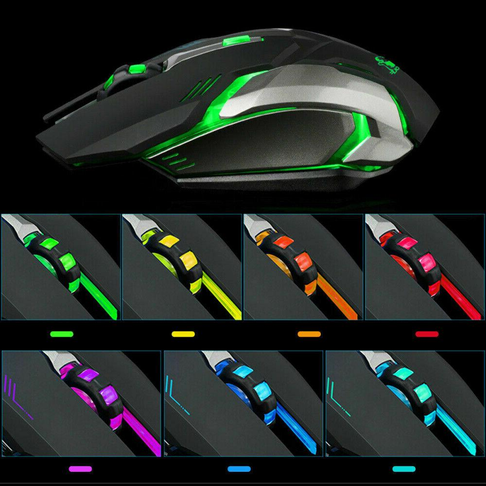 LED USB Ergonomic X7 Mouse Mice