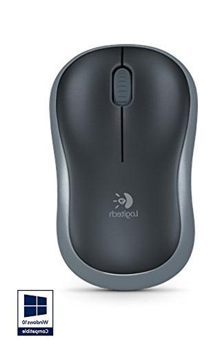 Logitech M185 Mouse Optical Radio Silver - USB - dpi - Computer Butto
