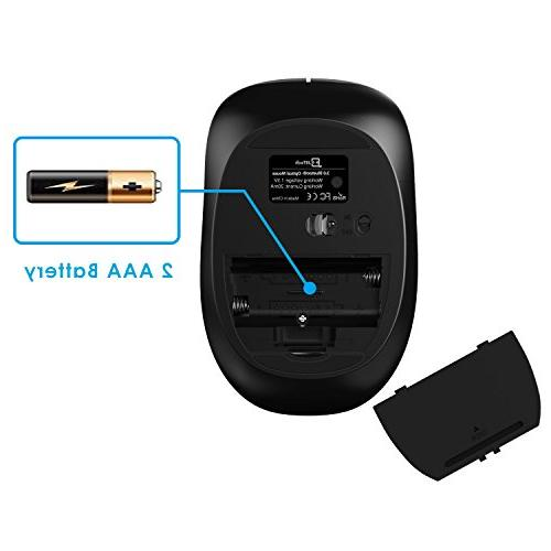 JETech M2260 Mouse for PC, and OS Tablet with 6-Month Battery -