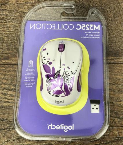 Logitech M325c Wireless Mouse for Web Scrolling - Purple Pea