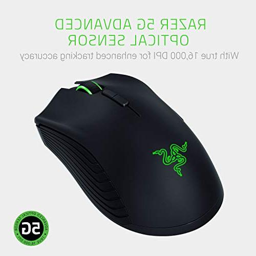 Razer RGB Gaming 16,000 DPI Optical Sensor Wired/Wireless Extended Hour Battery Ergonomic Mice