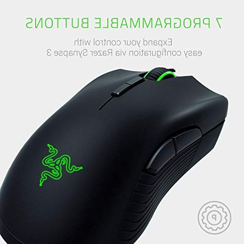 Razer Mamba RGB Gaming Mouse 16,000 DPI Hour Battery Ergonomic Mice