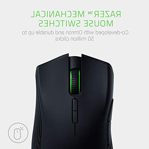 Razer Mamba Wireless Programmable RGB Gaming - 16,000 DPI Sensor Wired/Wireless 50 Hour