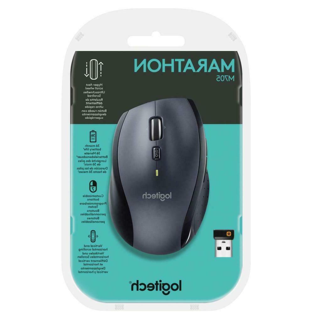 marathon m705 wireless laser mouse silver black