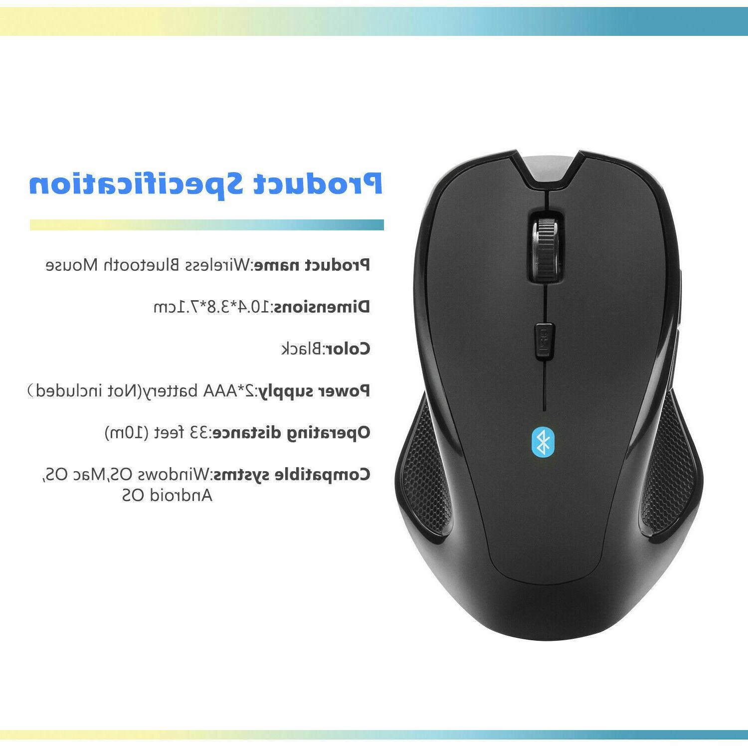 Mice Mouse Bluetooth Optical DPI Mac Macbook PC Android