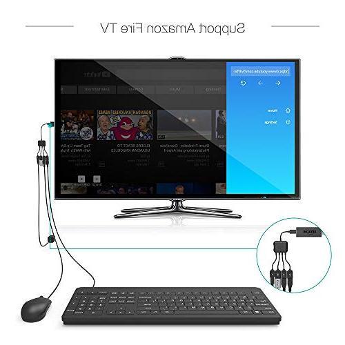 TUSITA USB Adaptor with Charging OTG Host Cord 2 3 Android Samsung Galaxy Google LG/Linux