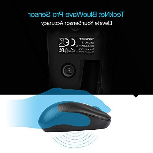 TeckNet 3-Button Mouse with Nano Receiver Notebook, PC, Laptop, Computer, 1600 Life, Left/Right Hand