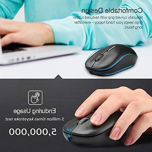 TeckNet 3-Button Portable Optical Mouse with Nano Receiver Laptop, 1600 Life,