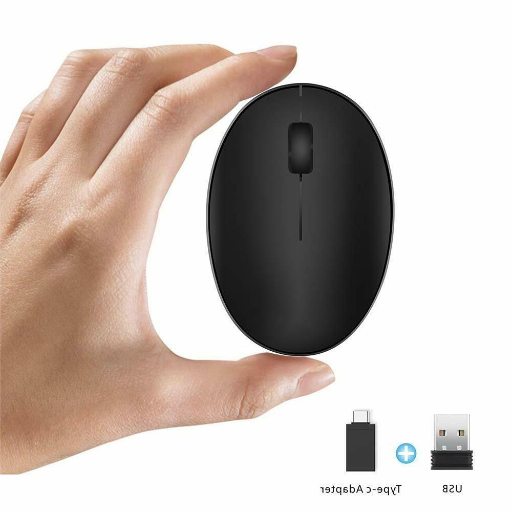 TENMOS Mini Rechargeable Wireless Mouse, 2.4GHz Optical Trav