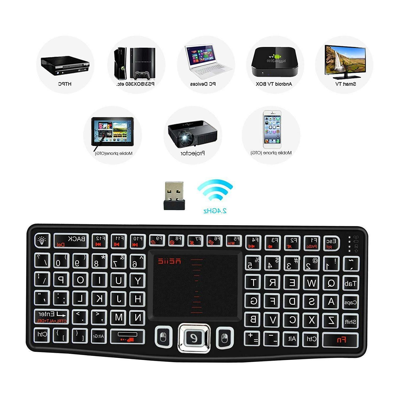 Mini Bluetooth Mouse Touchpad TV Box