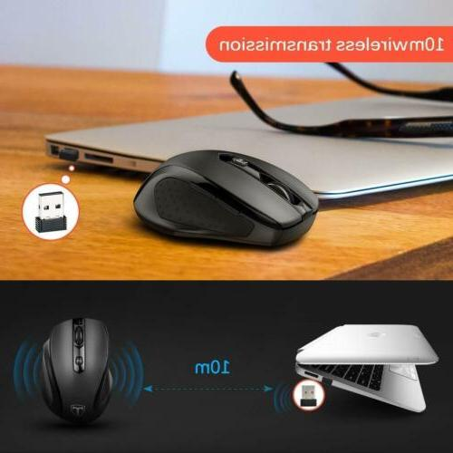 VicTsing Wireless Mouse Optical Mice + Laptop MAC