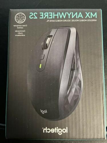 Logitech - MX Anywhere 2S Wireless Laser Mouse - Black
