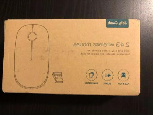 New Jelly Comb 2.4G Slim Wireless Mouse with Nano Receiver,