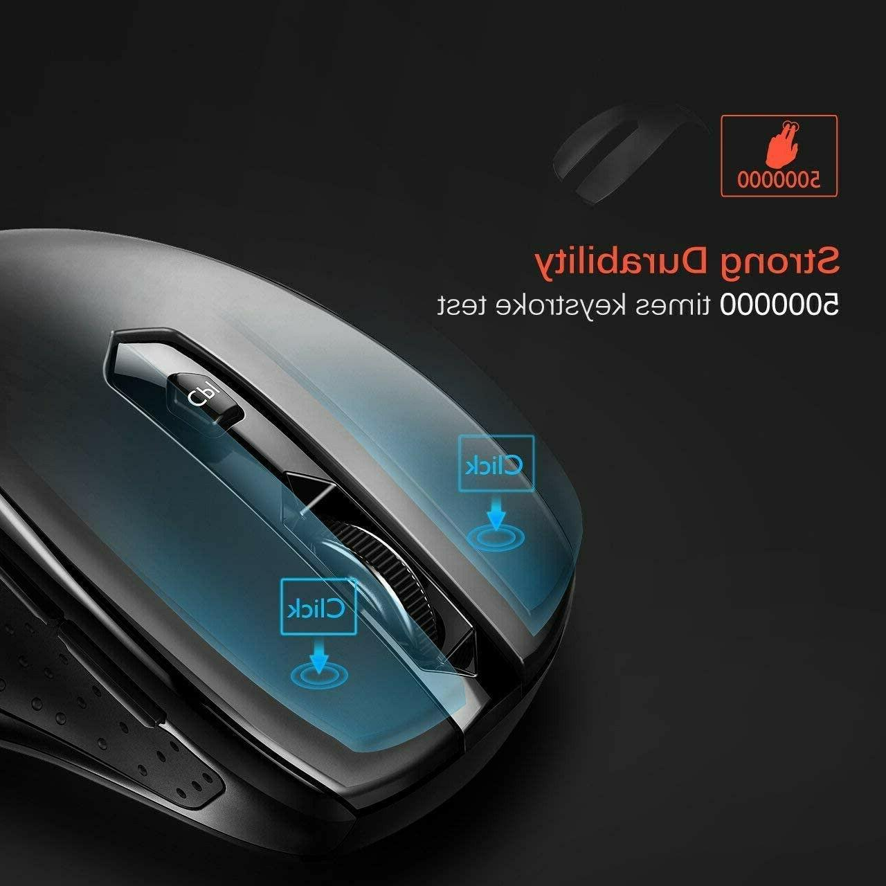 New MM057 Wireless Mouse—Black,