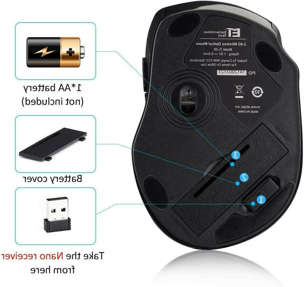 New Wireless Optical DPI, 6 Buttons