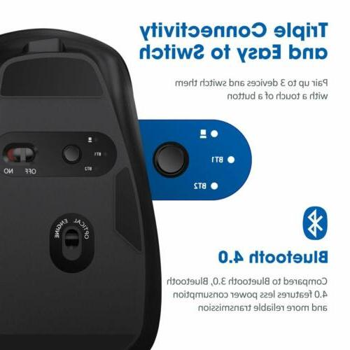 VicTsing Rechargeable Bluetooth Mouse Side Scroll Wheel for Laptop