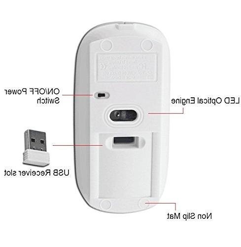 2.4G Rechargeable mobile wireless optical mouse USB mice,3 for computer, macbook by Smart-US
