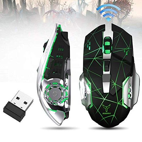 Rechargeable Wireless Gaming Bluetooth USB Computer 2.4G Changing Ergonomics 4 (Black