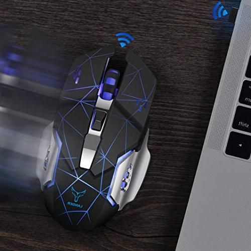 Rechargeable Bluetooth Computer Mouse, 2.4G Optical Silent, Sleeping, Ergonomics DPI, Compatible (Black