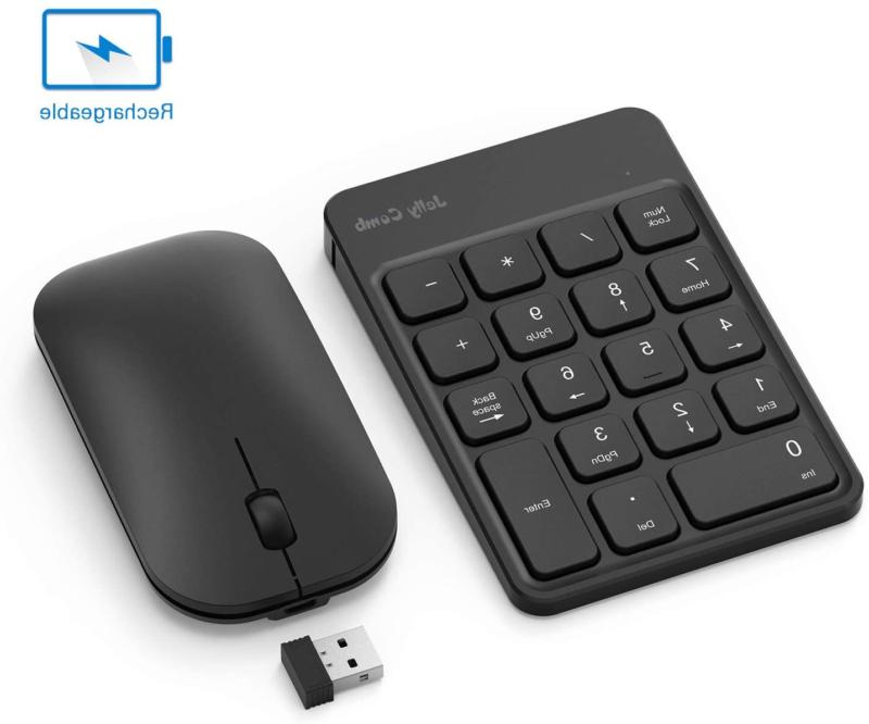Rechargeable Wireless Number Pad And Mouse Combo, Jelly Comb