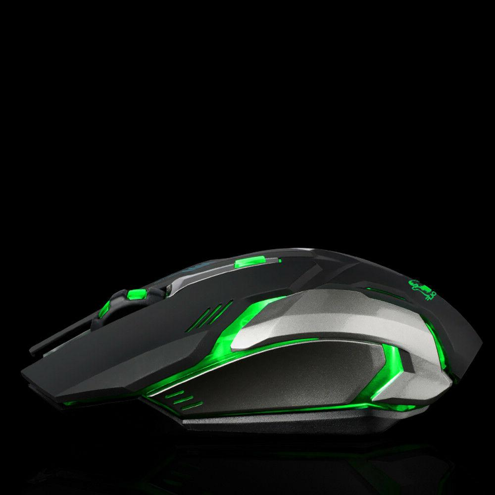 Rechargeable X7 Wireless LED Backlit Ergonomic Gaming