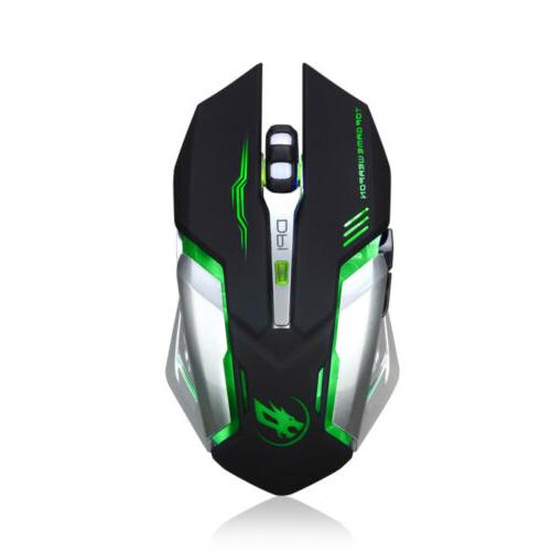 Rechargeable LED Backlit Gaming Mice