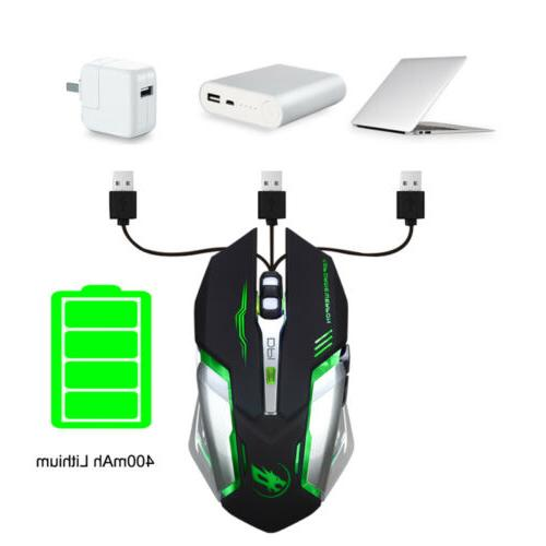 Rechargeable Silent Backlit USB Gaming Mouse