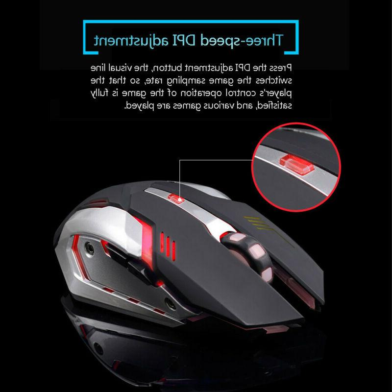 Rechargeable LED Optical Ergonomic Mouse