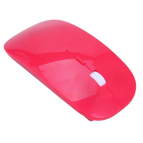 Red Curved Wireless Optical Mouse DPI Switch