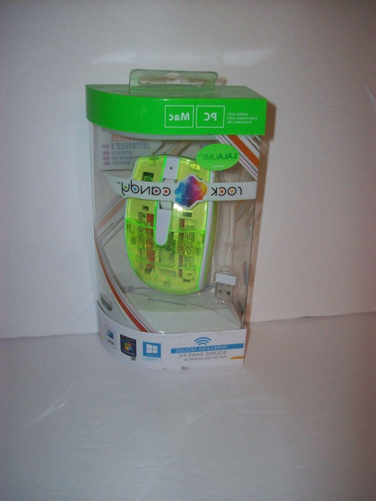 Rock Candy Lalalime Wireless Mouse - Optical - Wireless - Ra