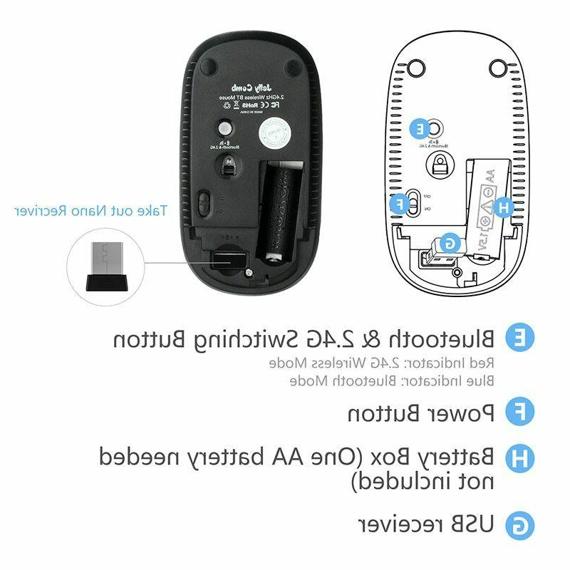 Shipped Russian! Comb Wireless Multi-Color 1600 DPI