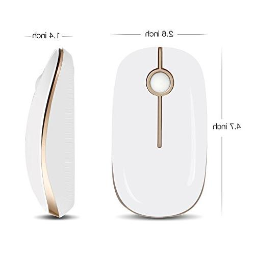 Jelly Comb Wireless with Receiver Mobile Optical Mice MacBook and Gold