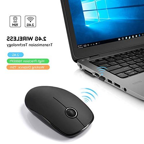 VicTsing Mouse Computer with Click, USB Mouse DPI Tablet, Black