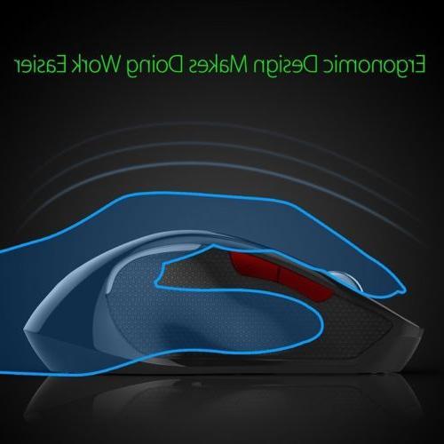 T21 Bluetooth Mouse 2400DPI Adjustable Ergonomic Optical Mouse Mice